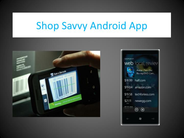 Shop Savvy Android App