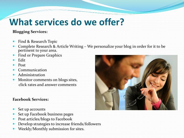 What services do we offer