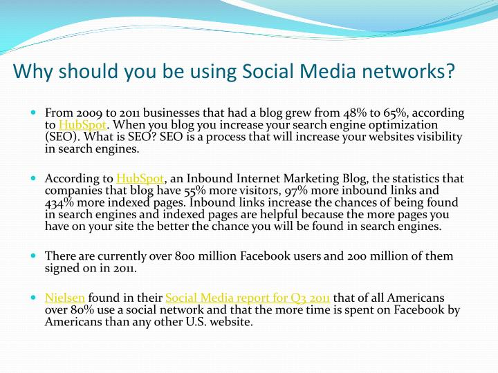 Why should you be using social media networks