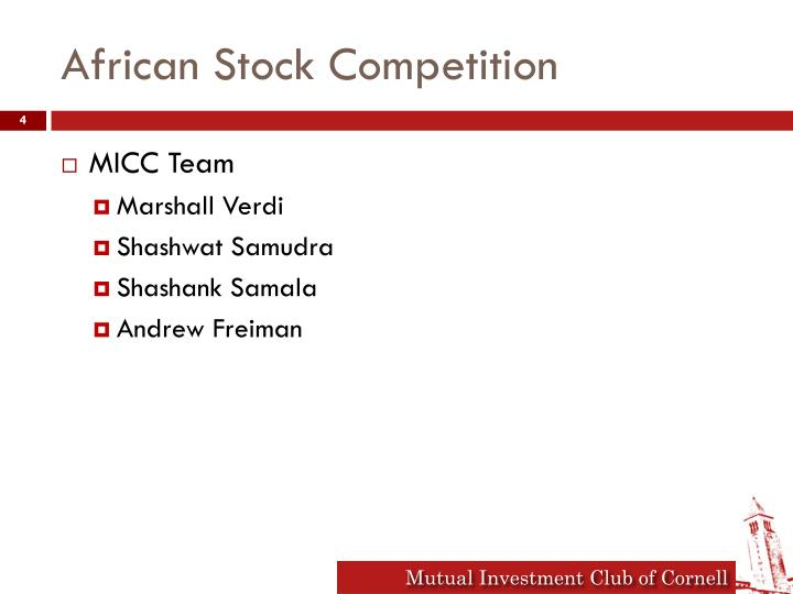 African Stock Competition