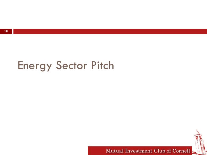 Energy Sector Pitch
