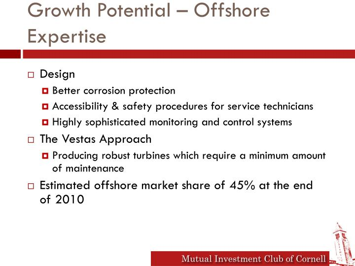 Growth Potential – Offshore Expertise
