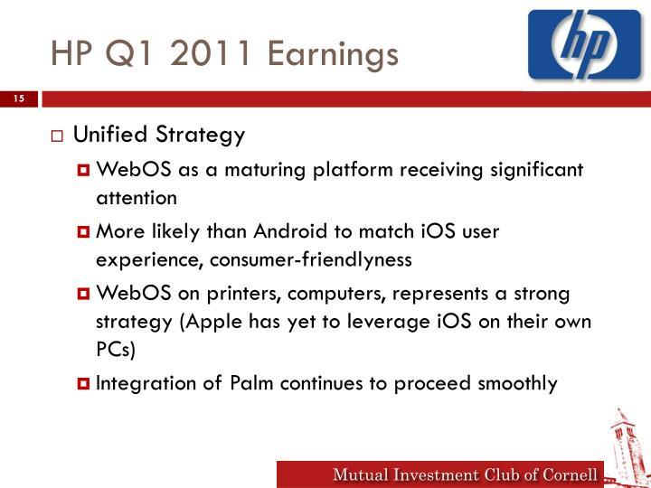 HP Q1 2011 Earnings