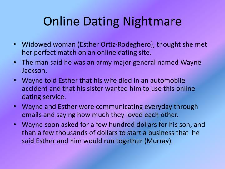 Online dating nightmares