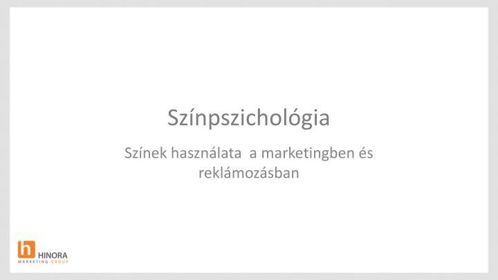 Színpszichológia
