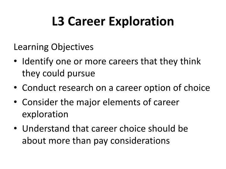 L3 Career Exploration