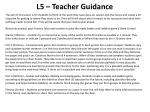 l5 teacher guidance