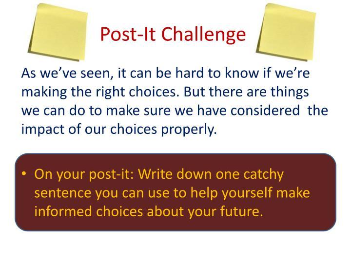 Post-It Challenge