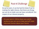 post it challenge