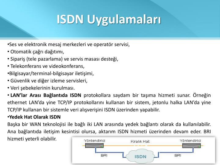 ISDN Uygulamaları
