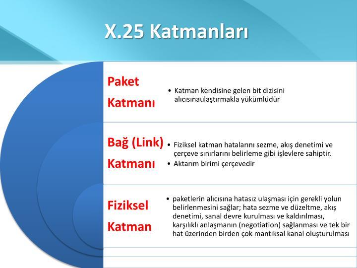 X.25 Katmanları