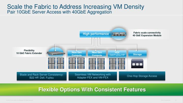 Scale the Fabric to Address Increasing VM Density