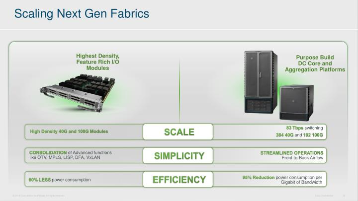 Scaling Next Gen Fabrics
