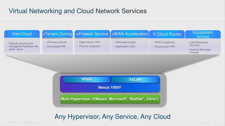 Virtual Networking and Cloud Network Services