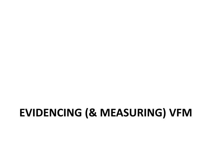 evidencing (& measuring)