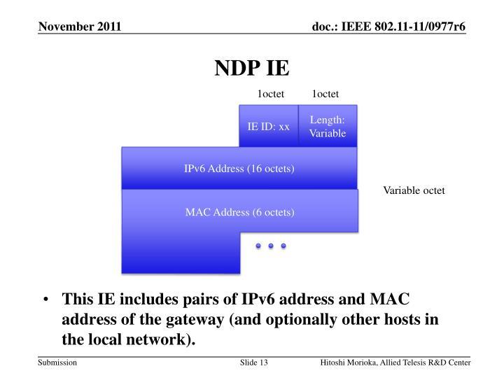 NDP IE