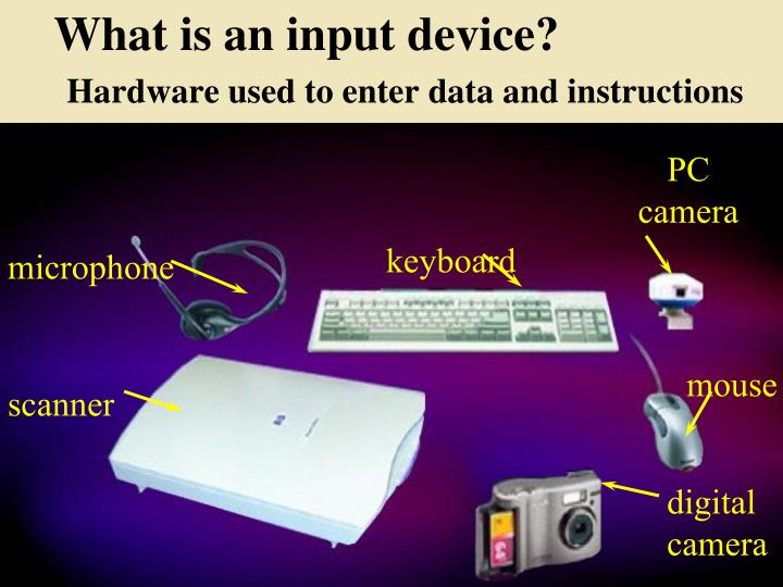 What is an input device?