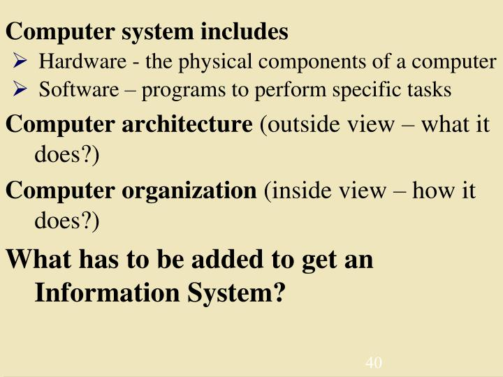 Computer system includes