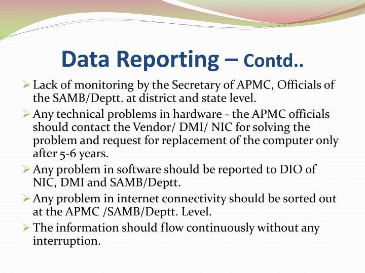 Data Reporting –