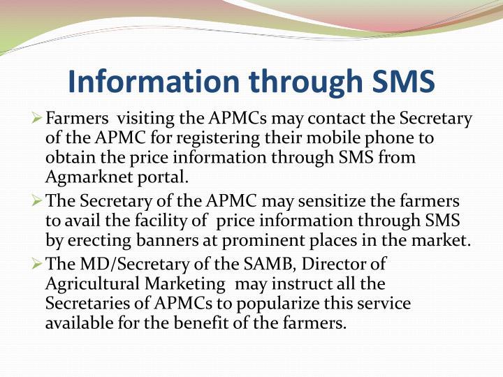 Information through SMS