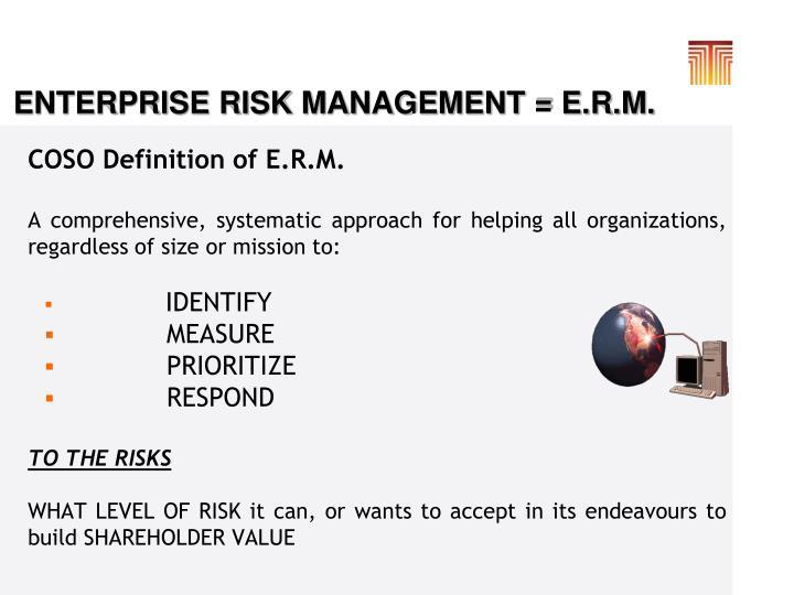 COSO Definition of E.R.M.
