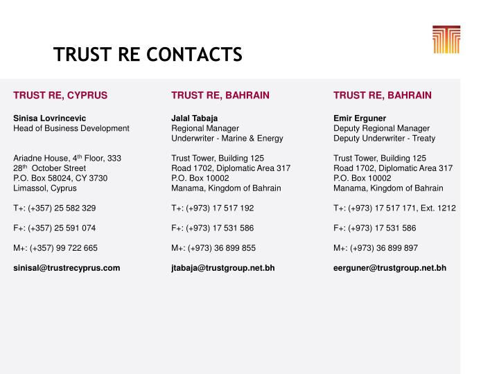 TRUST RE CONTACTS