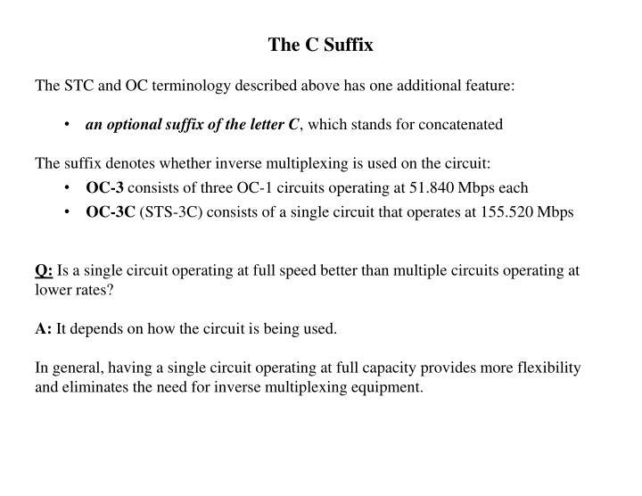 The C Suffix