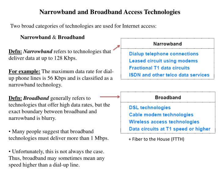 Narrowband and Broadband Access Technologies