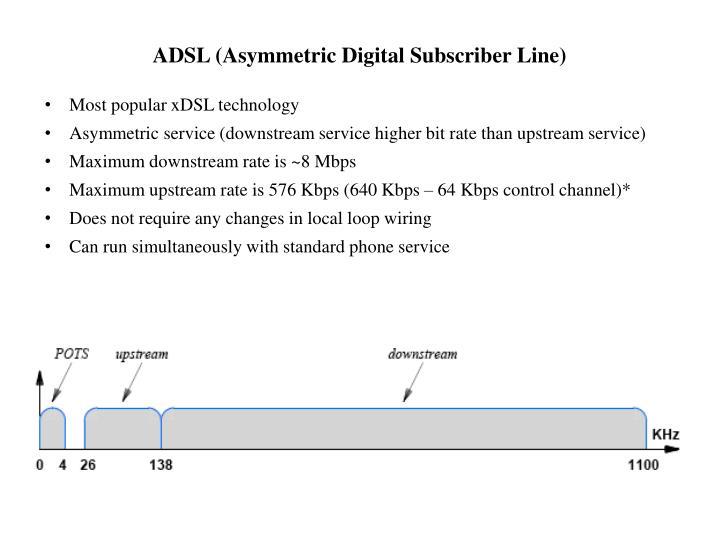 ADSL (Asymmetric Digital Subscriber Line)