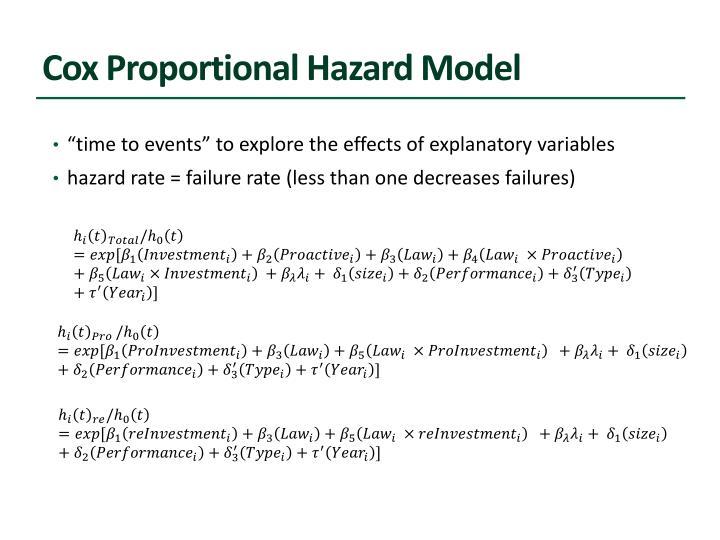 Cox Proportional Hazard