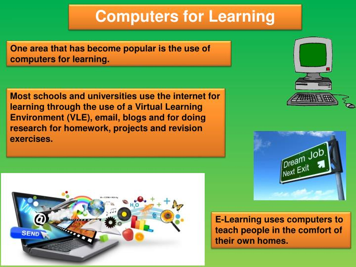One area that has become popular is the use of computers for learning.