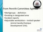from penrith committee agenda