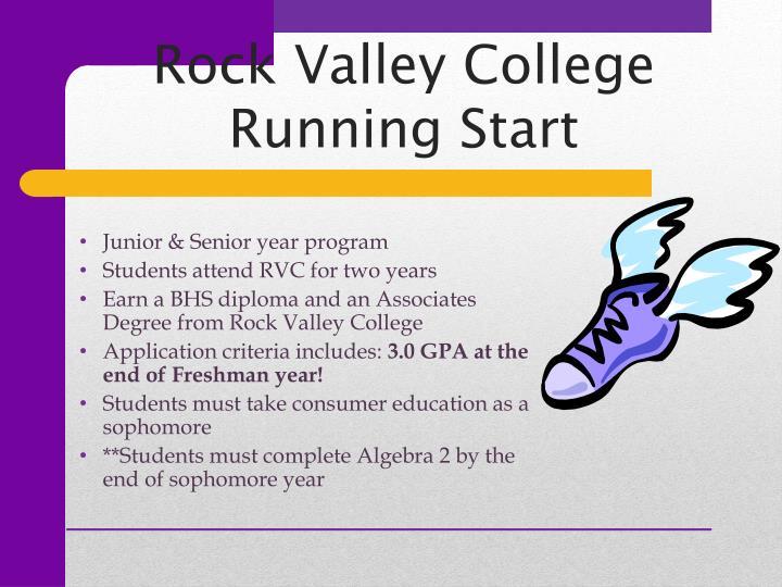 Rock Valley College Running Start