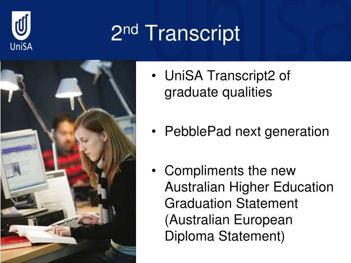 UniSA Transcript2 of graduate qualities