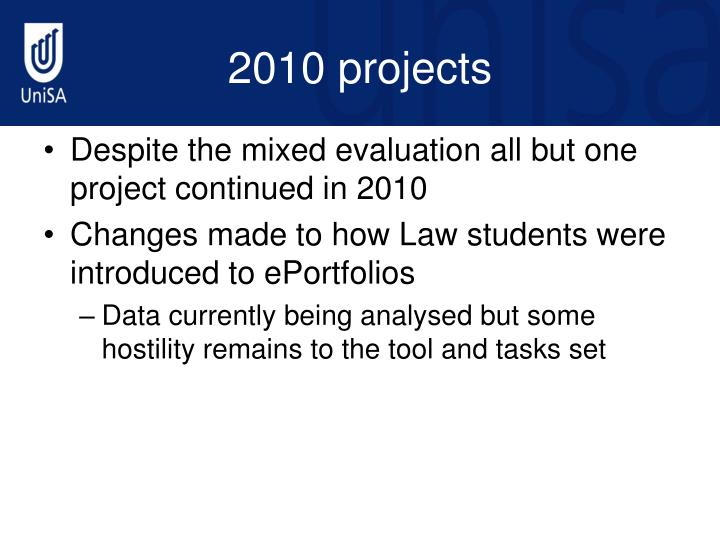 2010 projects