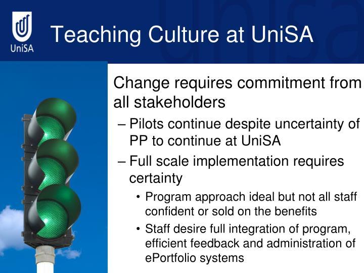 Teaching Culture at UniSA