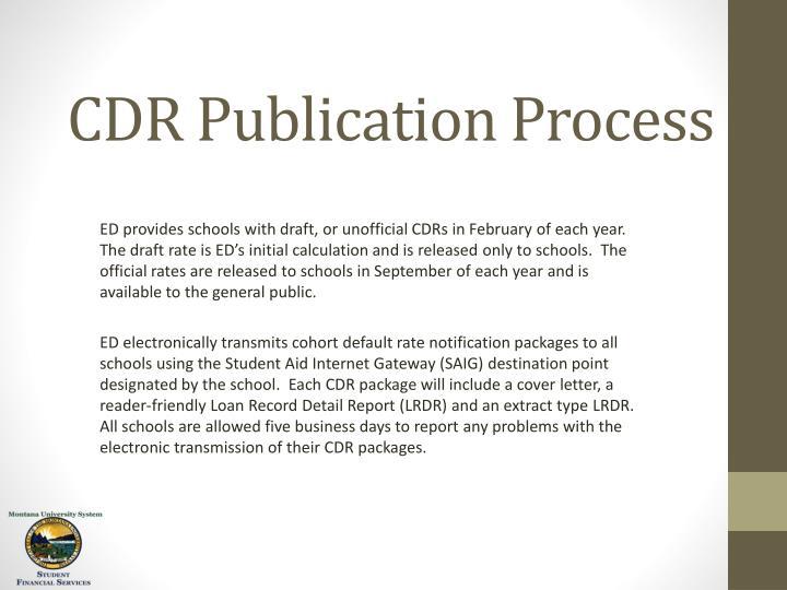 CDR Publication