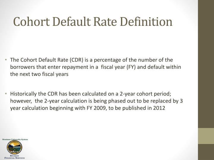 Cohort Default Rate Definition