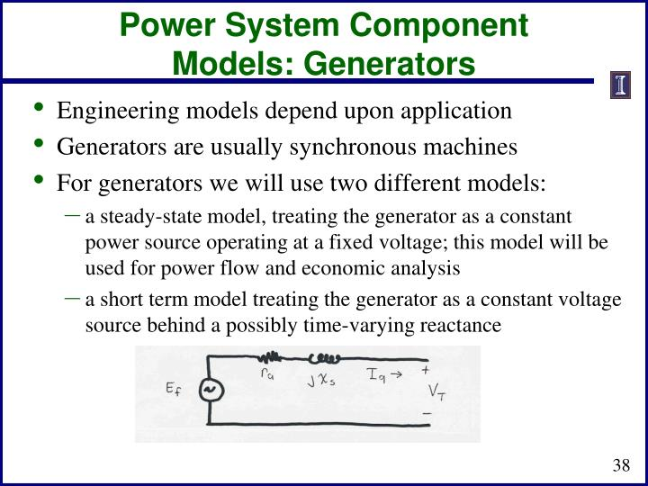 Power System Component Models: