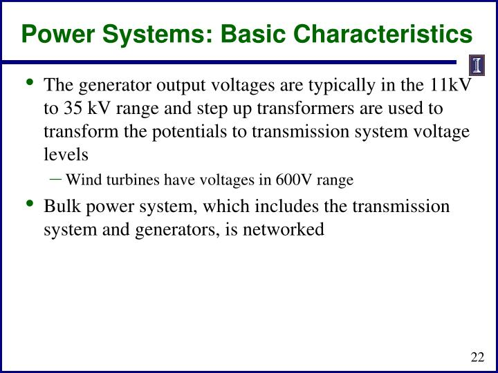 Power Systems: Basic Characteristics