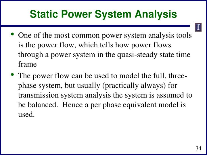 Static Power System Analysis