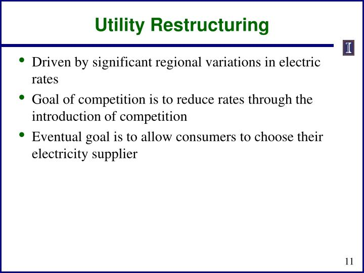 Utility Restructuring