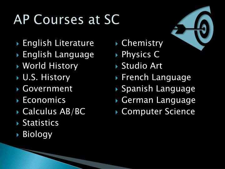 AP Courses at SC