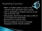auditing courses