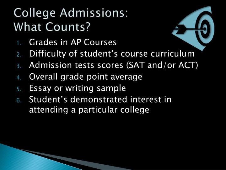 College Admissions:
