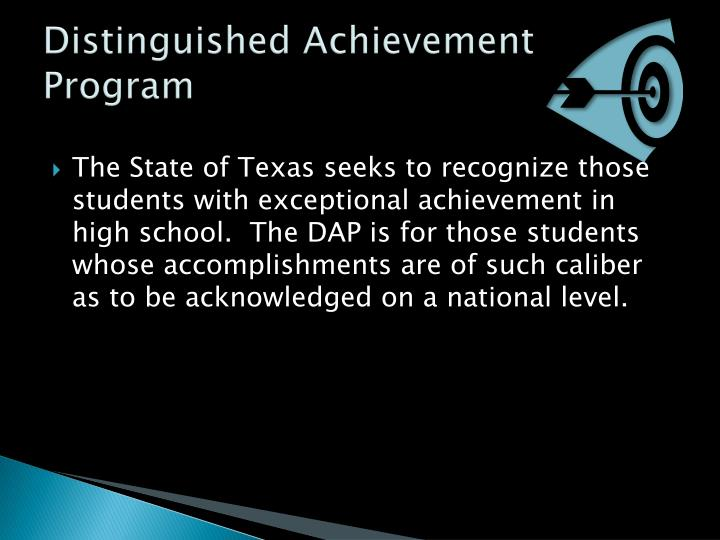 Distinguished Achievement Program
