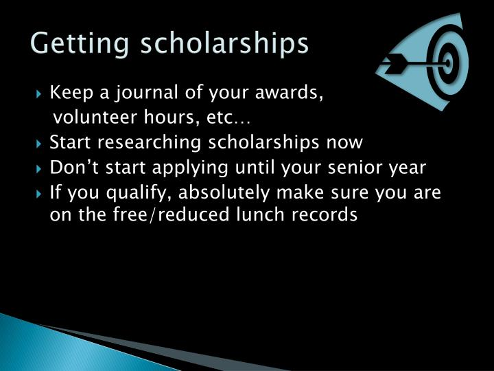 Getting scholarships