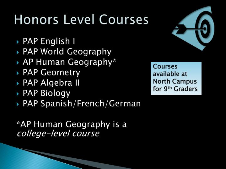 Honors Level Courses