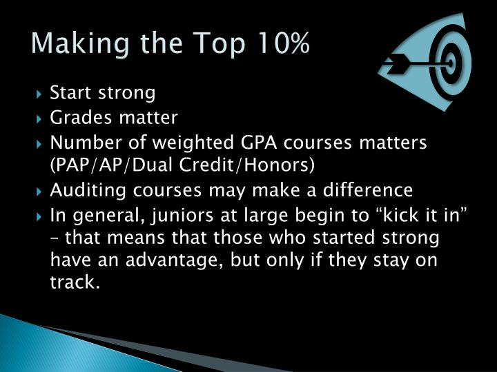 Making the Top 10%