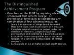 the distinguished achievement program